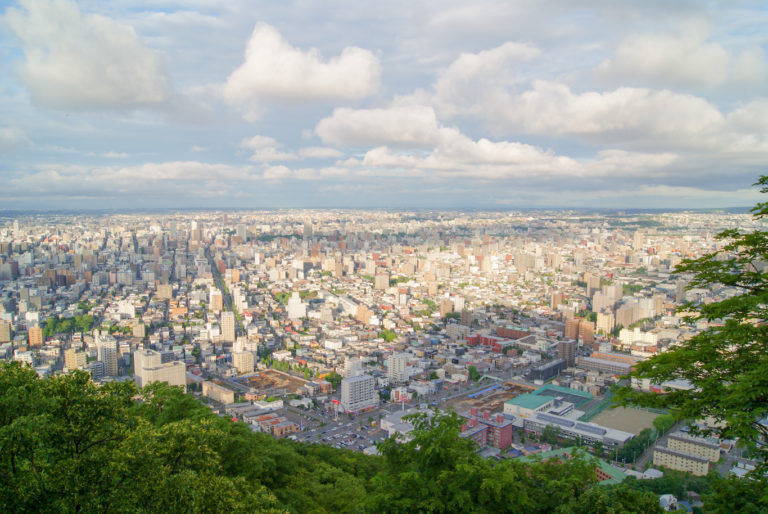 sunset view from Maruyama hill things to do in sapporo