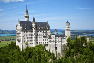 Europe on a budget, neuschwanstein, munich, castle, summer
