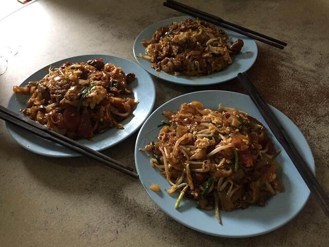 char kuay teow, penang street food, penang food tour