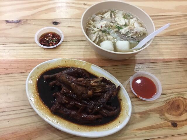 chicken feet, penang street food, penang food tour, soup noodle
