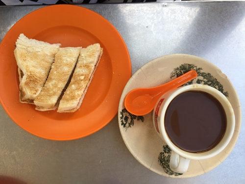 coffee, malaysia, malaysian breakfast, toast, kaya, bread
