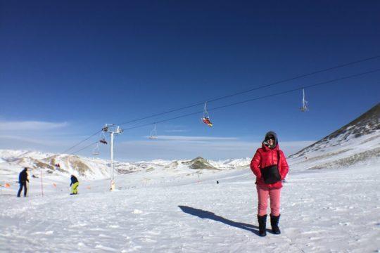 snow, tochal, station 7, lady, ski, telesiege