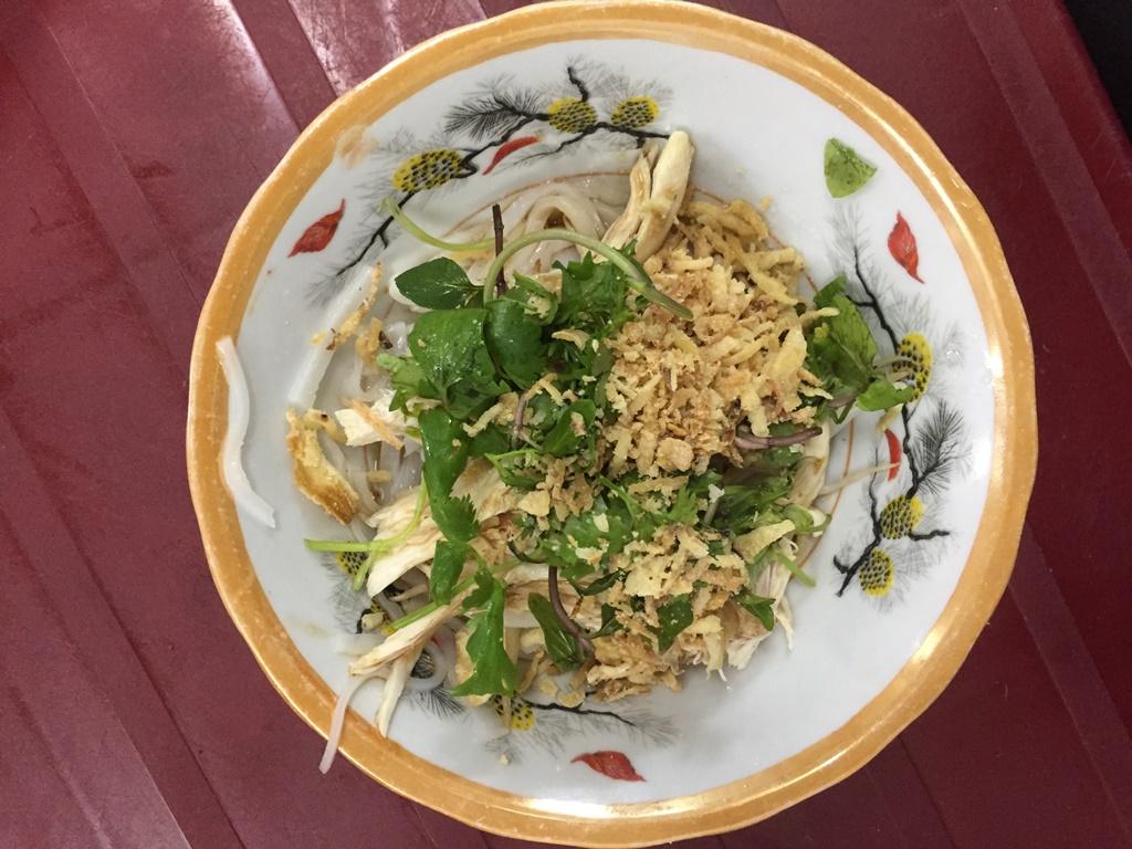 chicken vermicelli pho ga tron hanoi street food vietnam