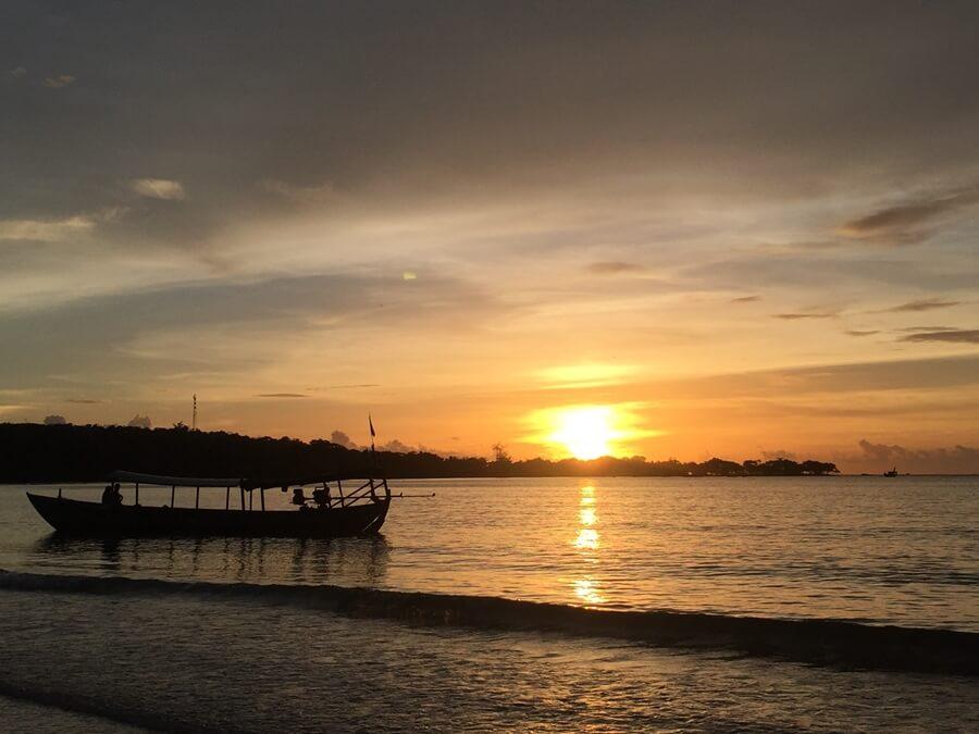 Koh Rong Samloem, cambodia, Sunset, eco sea dive, boat, waves