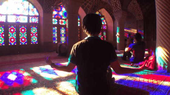 Shiraz mosque, colourful mosque, iran travel, budget