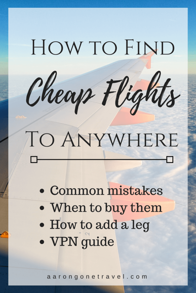 With this guide, you will find cheap flights in no time!