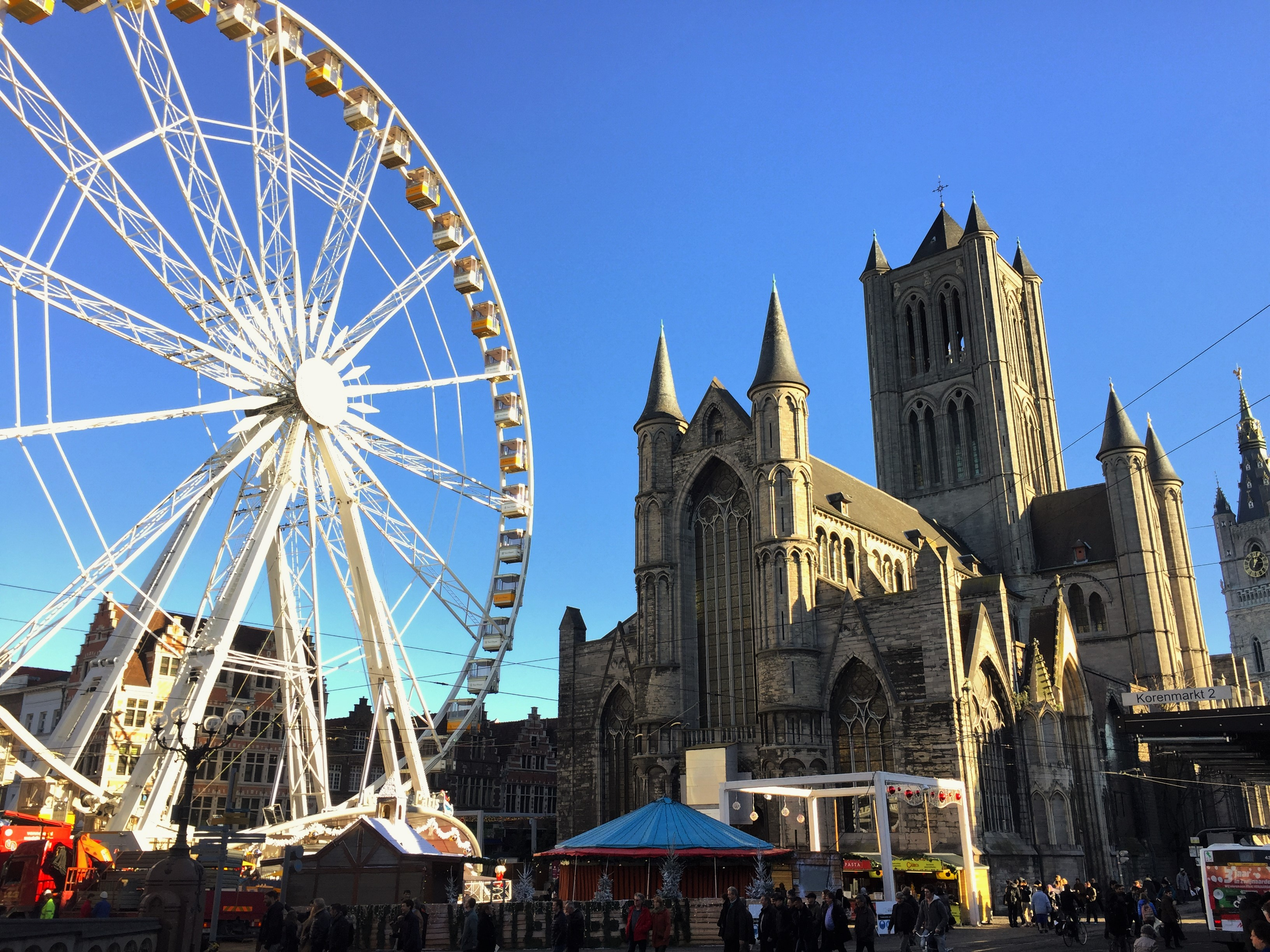 one day in ghent, square, christmas, ferris wheel, christmas market
