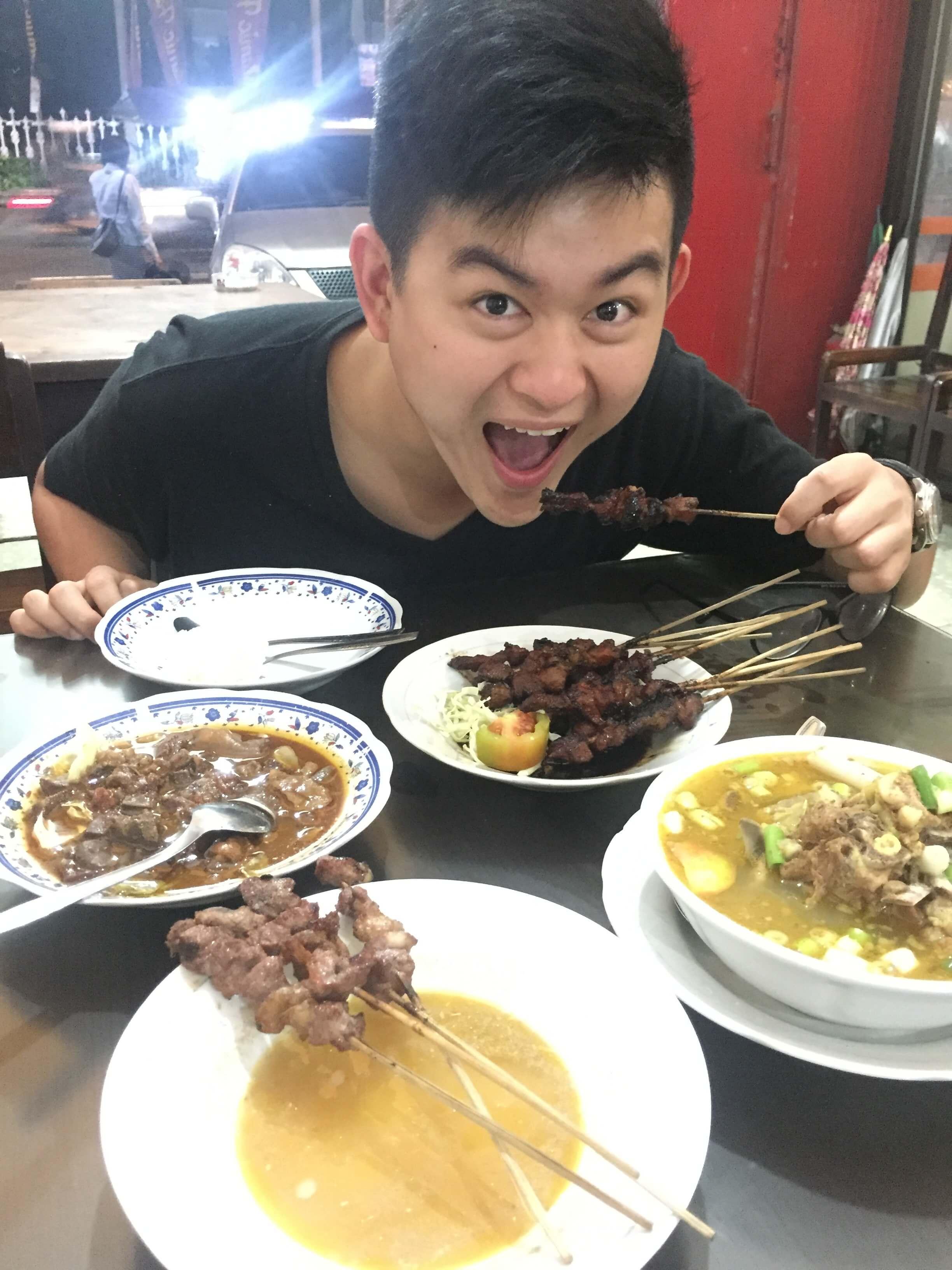 Food in Yogyakarta, jogja, sate, satay, kedai sate samirono