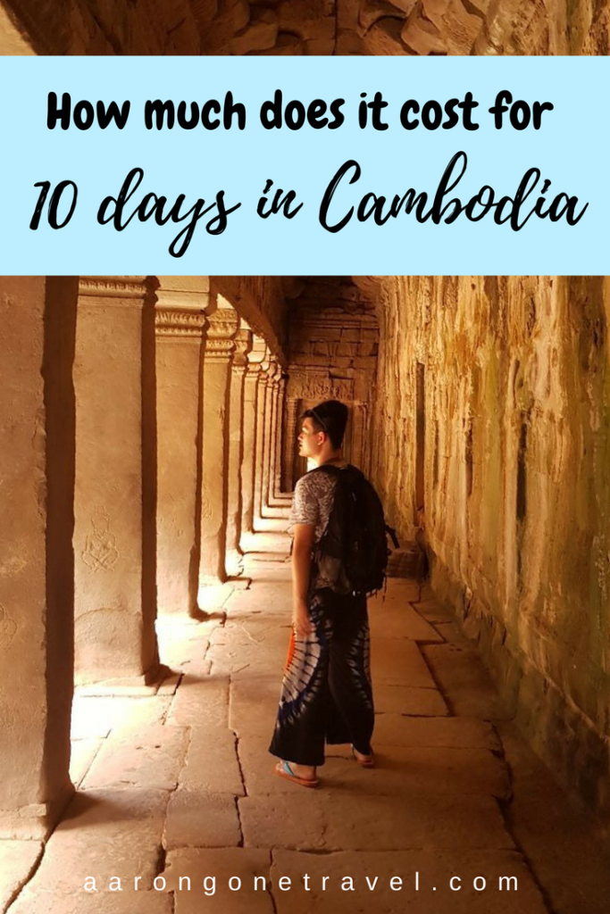 How much does it cost for 10 days in Cambodia