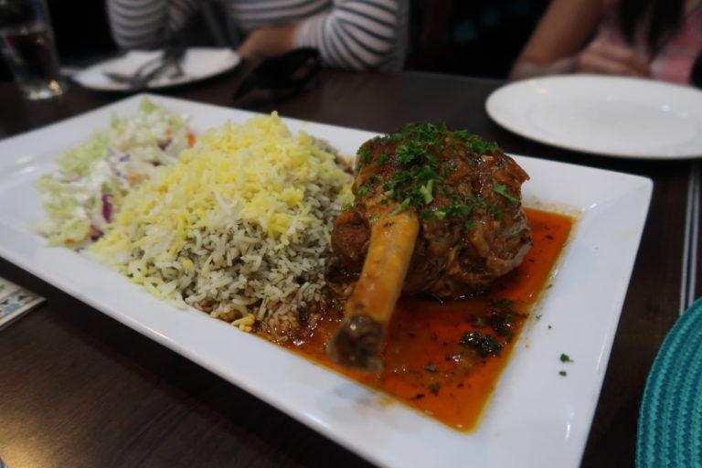 food, lamb shank, iranian. persian