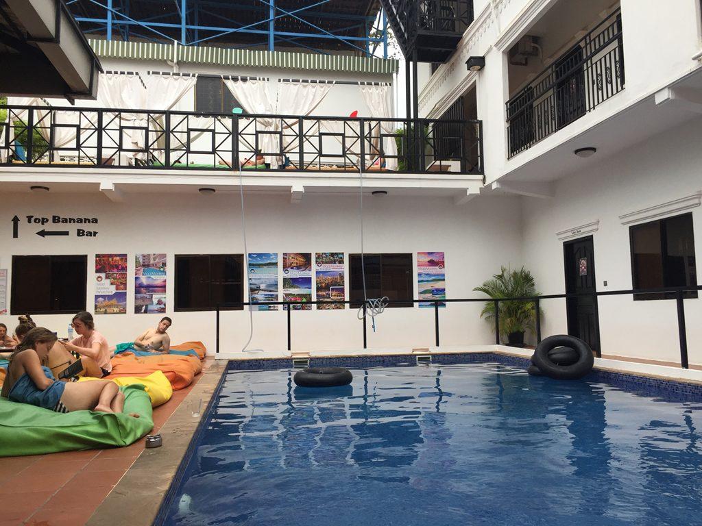 mad monkey, hostel, siem reap, swimming pool, chill