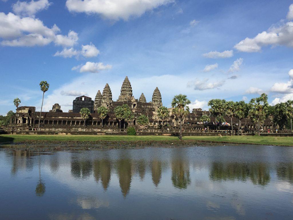 angkor wat, siem reap, cambodia, reflection