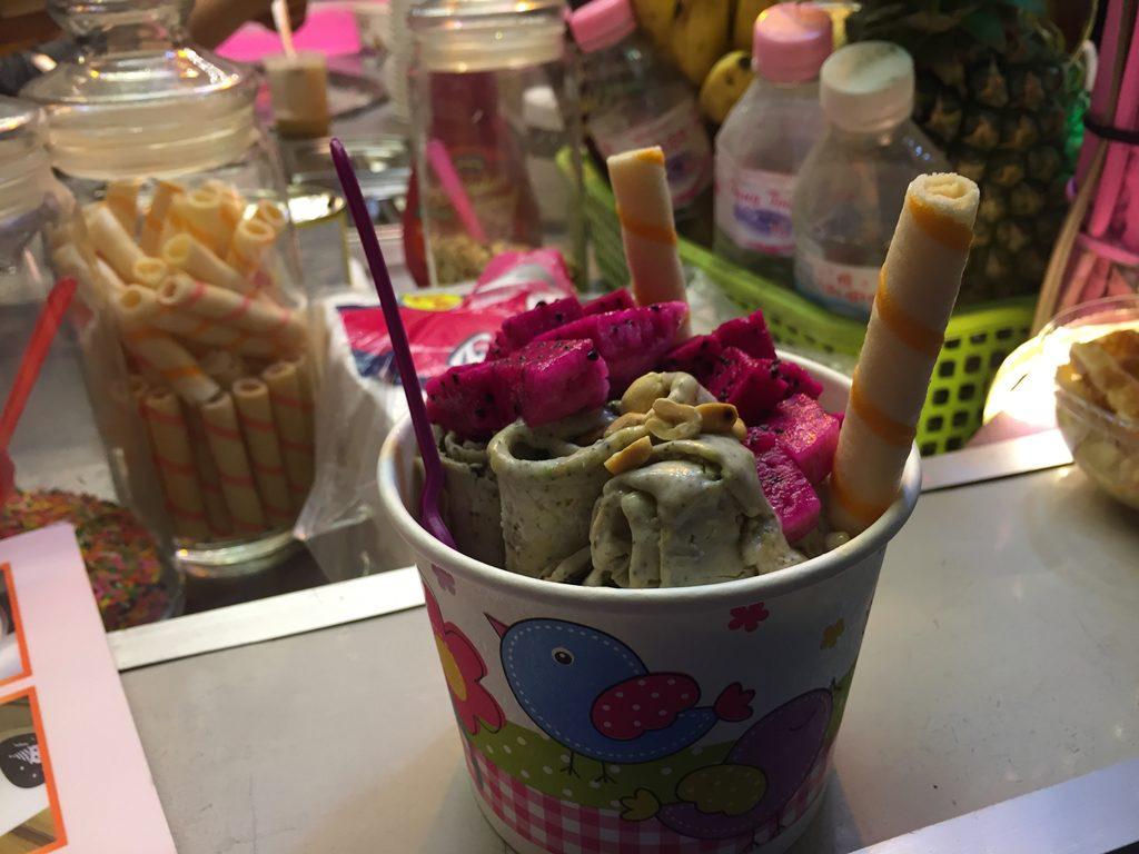 fried ice cream, siem reap, cambodia, ice cream, avocado