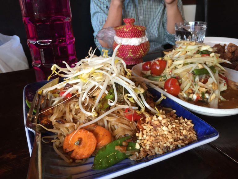Extra large portion of Pad Thai.