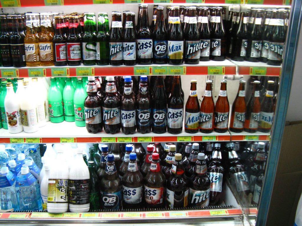 cass, beer, korea, seoul, convenience store