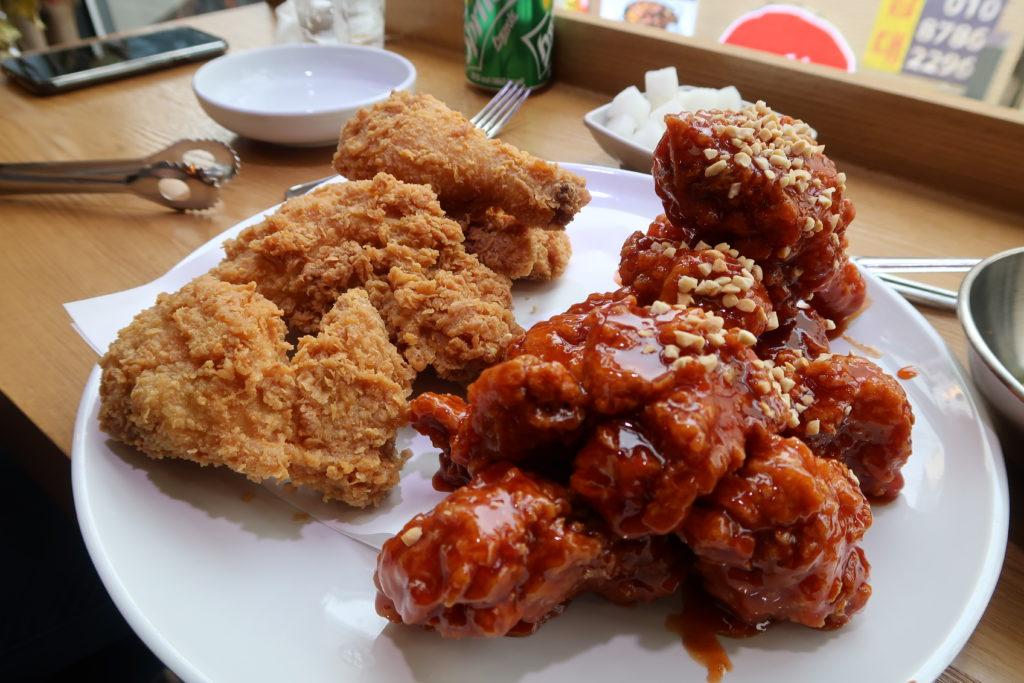 korean fried chicken, seoul, korea, chimaek