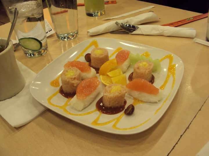 frushi, orange, fruit sushi, chicago