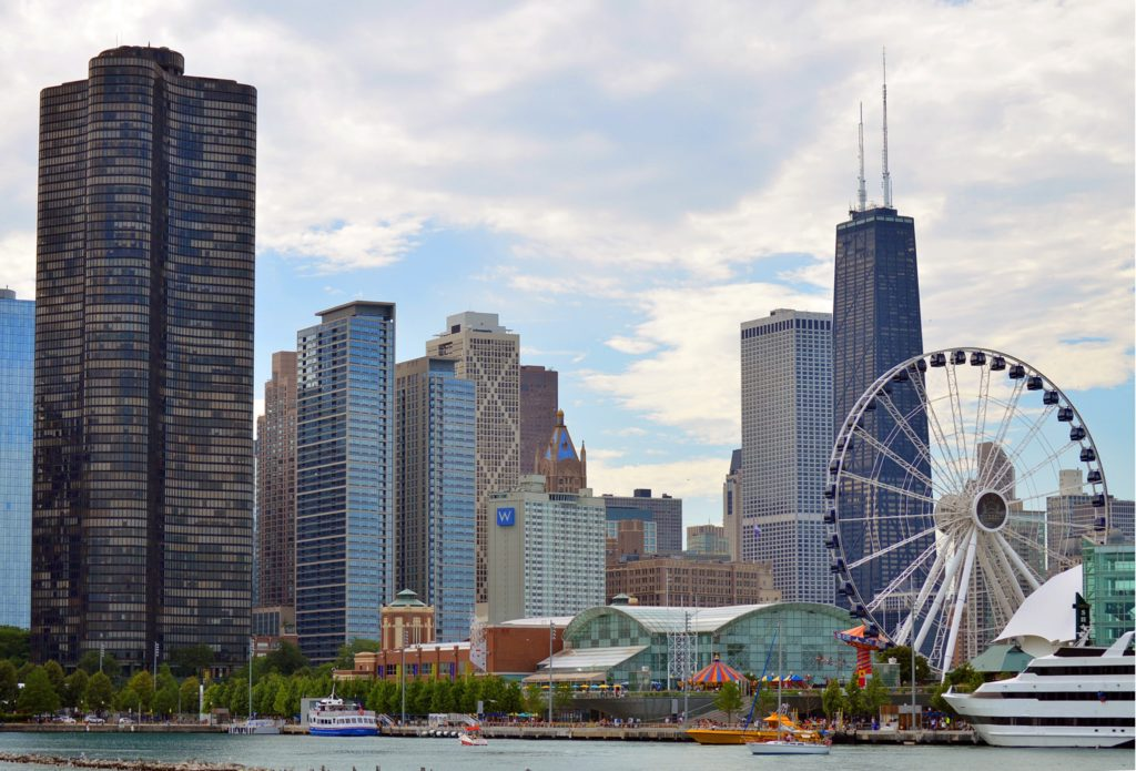 chicago, ferris wheel, america, US