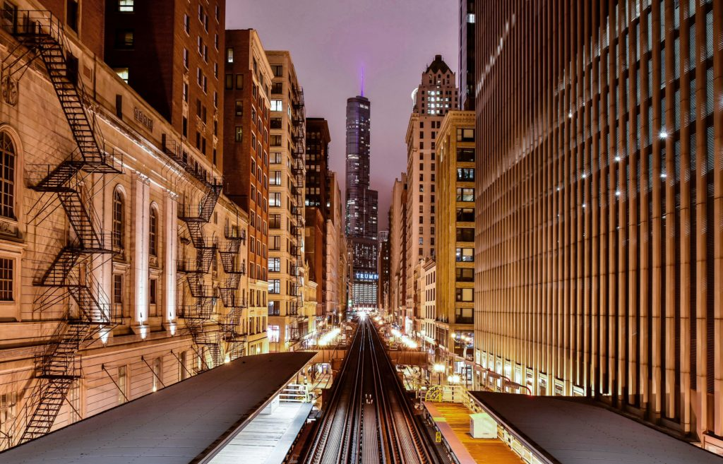 Chicago, railway, adam station