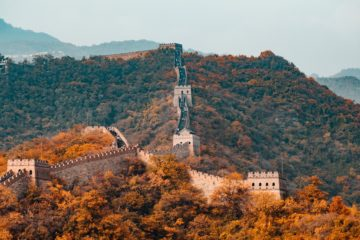 great wall china beijing autumn