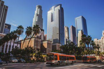 los angeles, america, california, public transport, bus