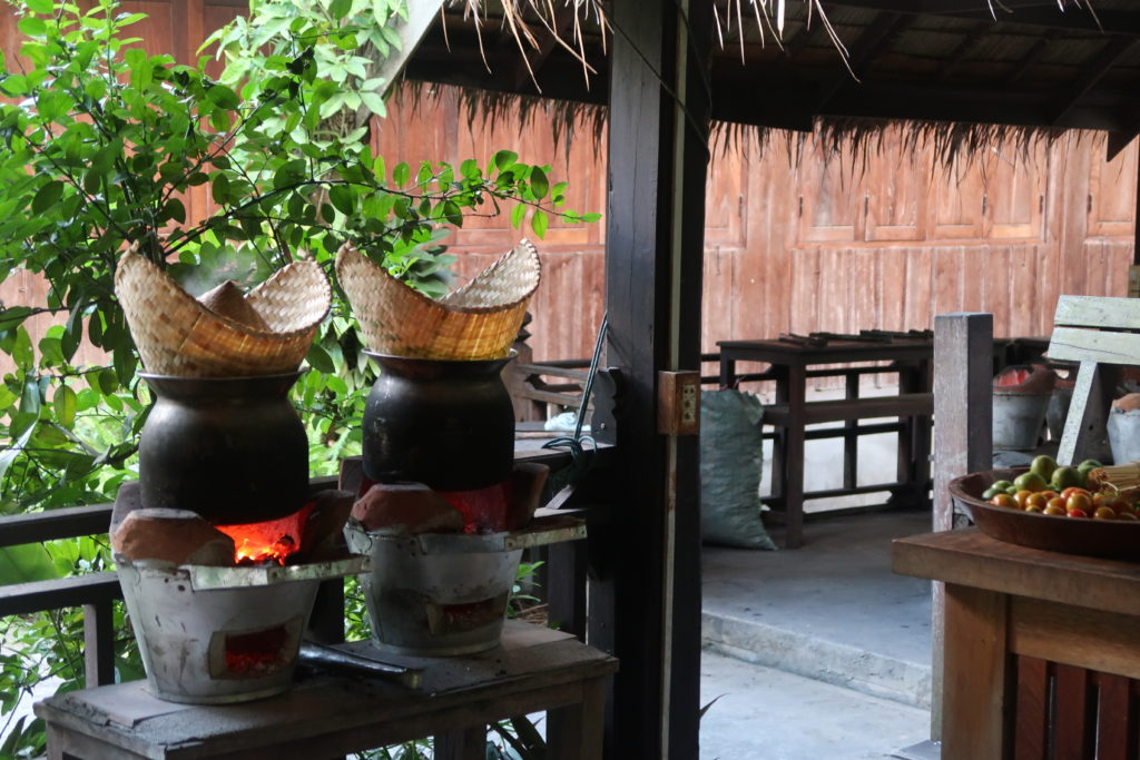 bamboo sticky rice, cooking class, laos, luang prabang