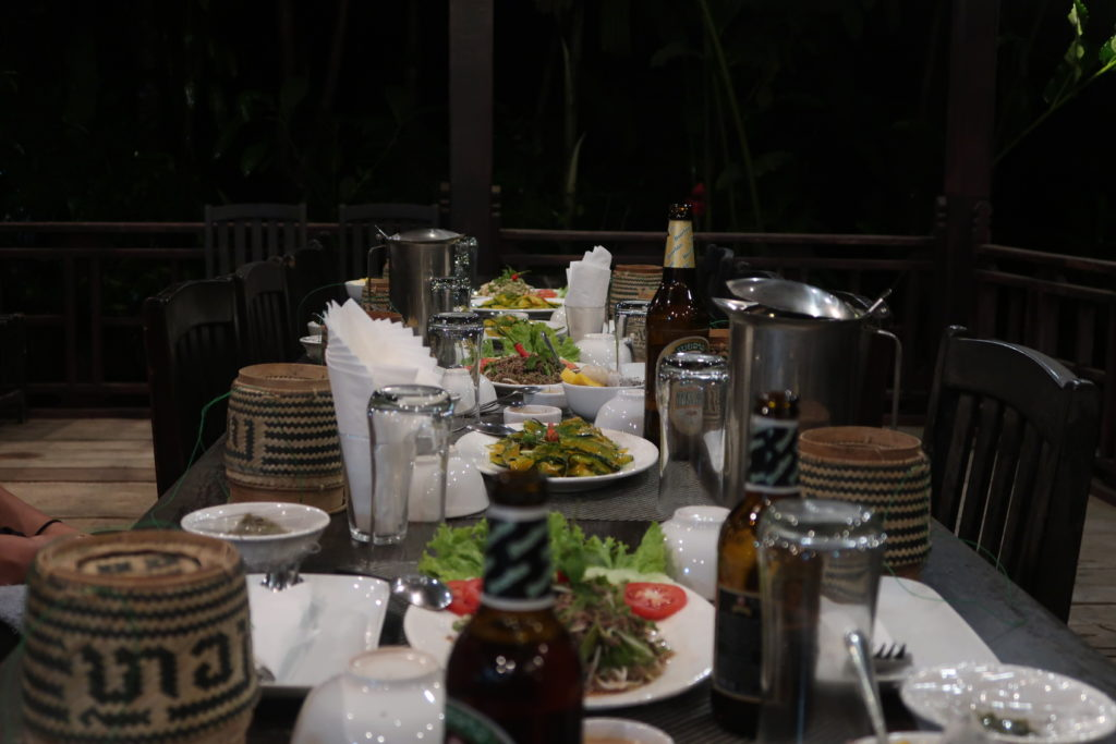 laos, luang prabang, dinner party, tamarind laos
