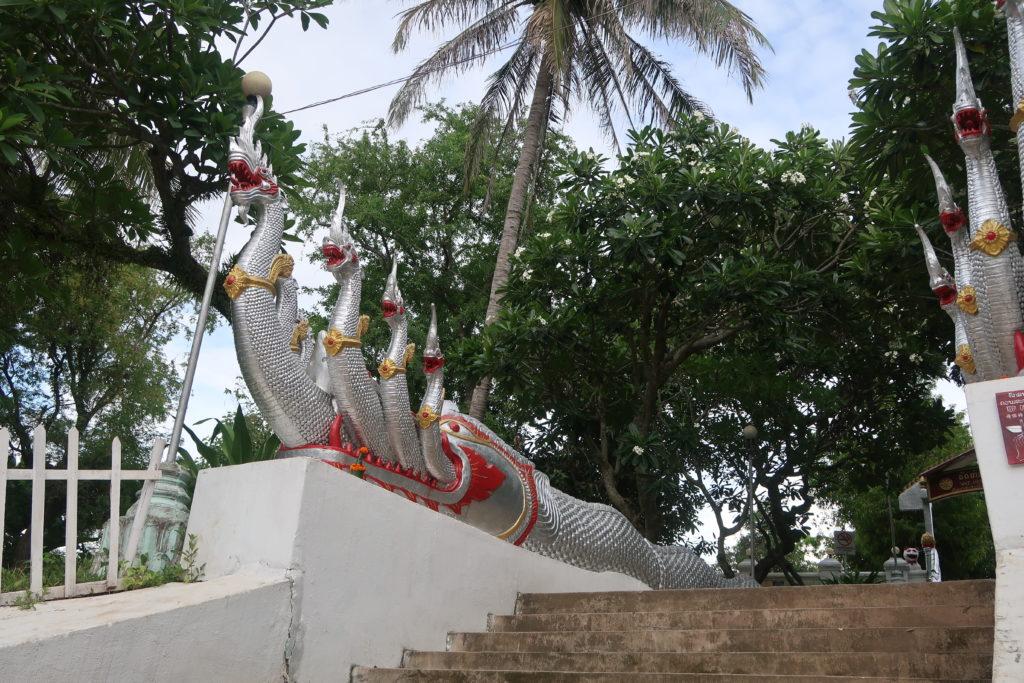 stairs, laos, luang prabang, dragon