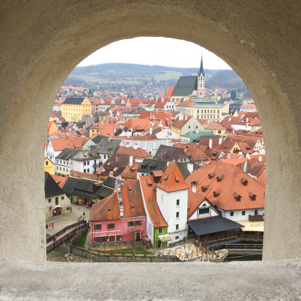 cesky krumlov day trip view from the castle