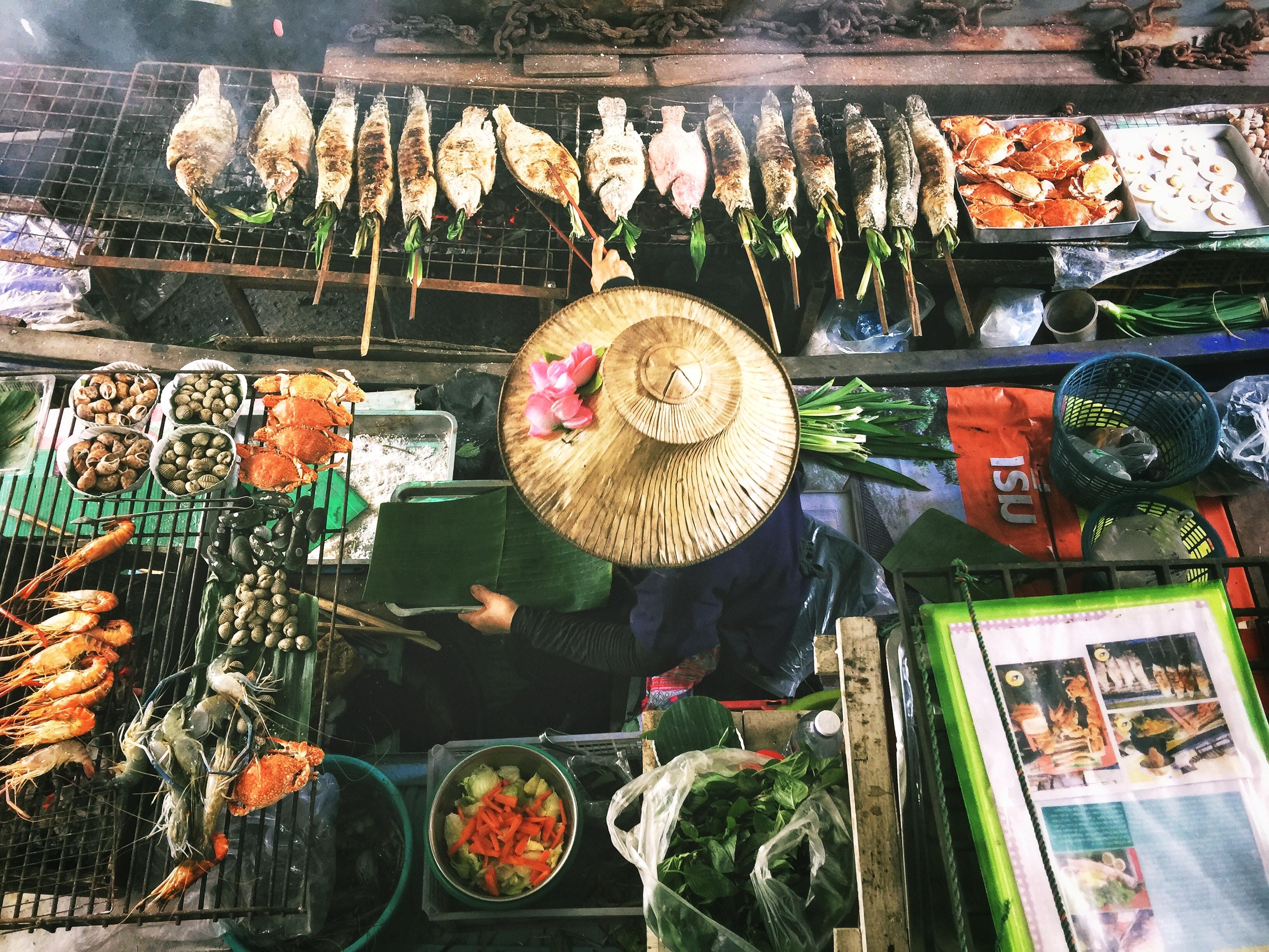 Bangkok, thailand, thai, grilled fish, street food