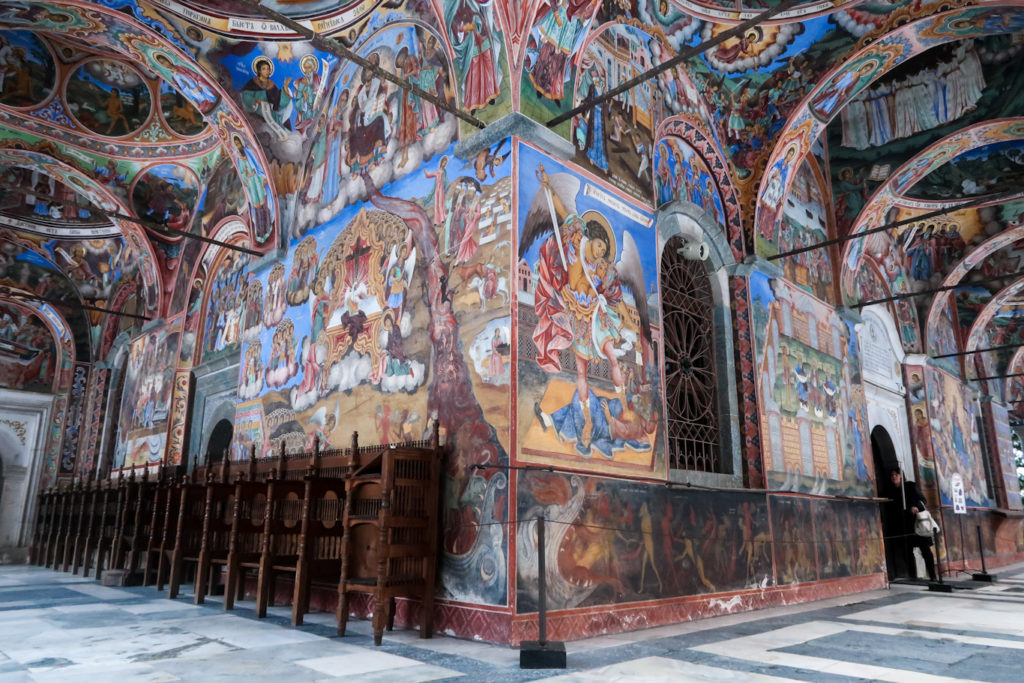 Fresco at rila monastery biblical with bible meaning painting