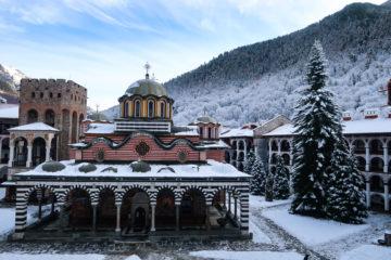 Snow, hike, rila monastery, winter