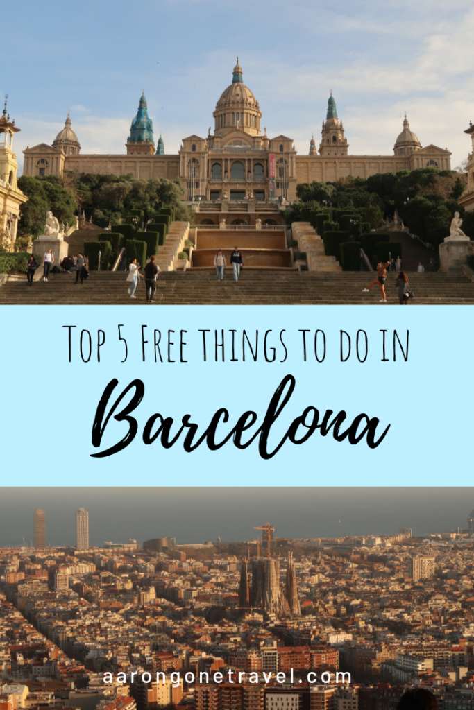 Going to Barcelona on a budget? Make sure you check out these 5 free things to do in Barcelona! You don't have to spend a fortune to enjoy Barcelona! #Barcelona #spain #montjuic #budgettravel