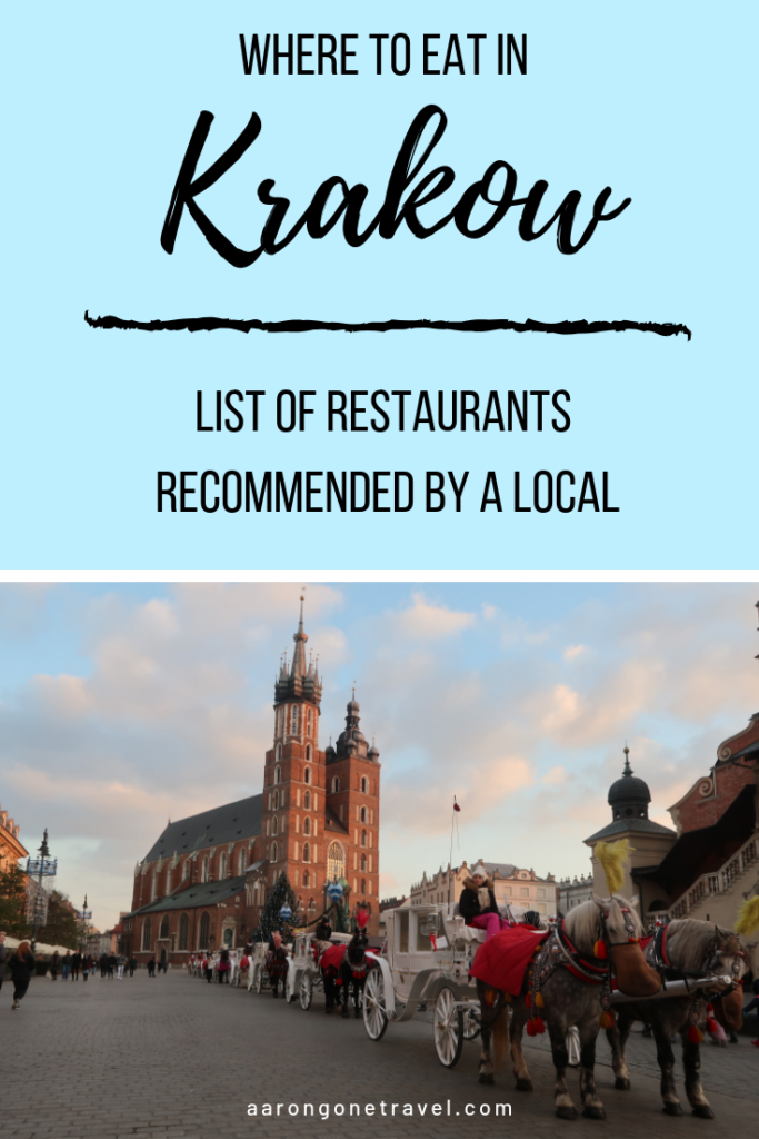 Wondering where to eat in Krakow? Check out this list of Polish restaurants recommended by my friend from Poland! #krakow #restaurant #foodie #poland
