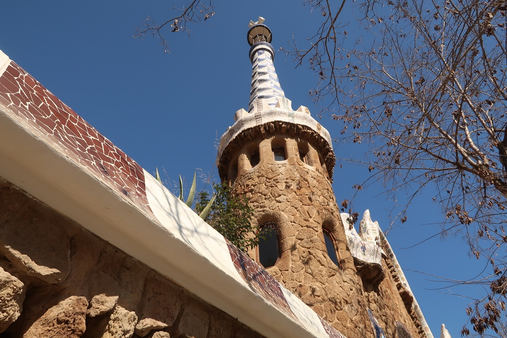 Gaudi's architecture at Parc Guell
