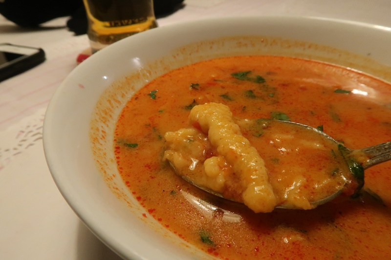 Polish traditional tomato soup at Gospoda Koko, Krakow
