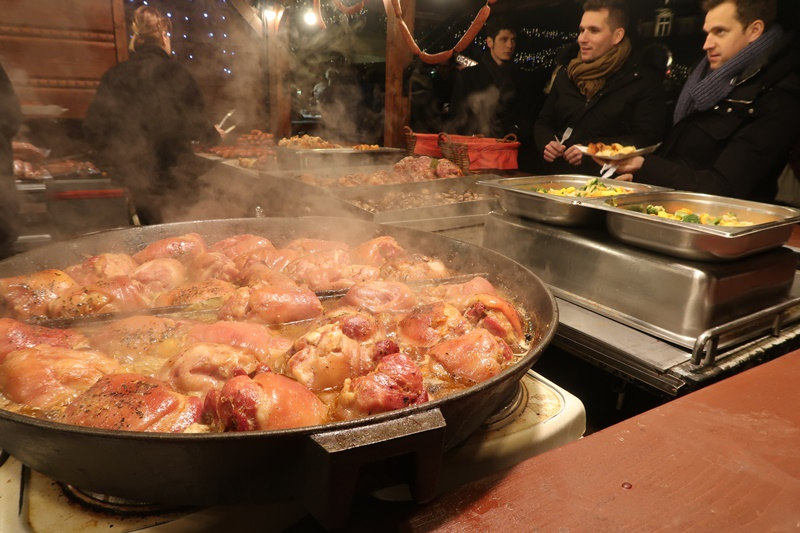 polish pork hock at Christmas Market in Krakow