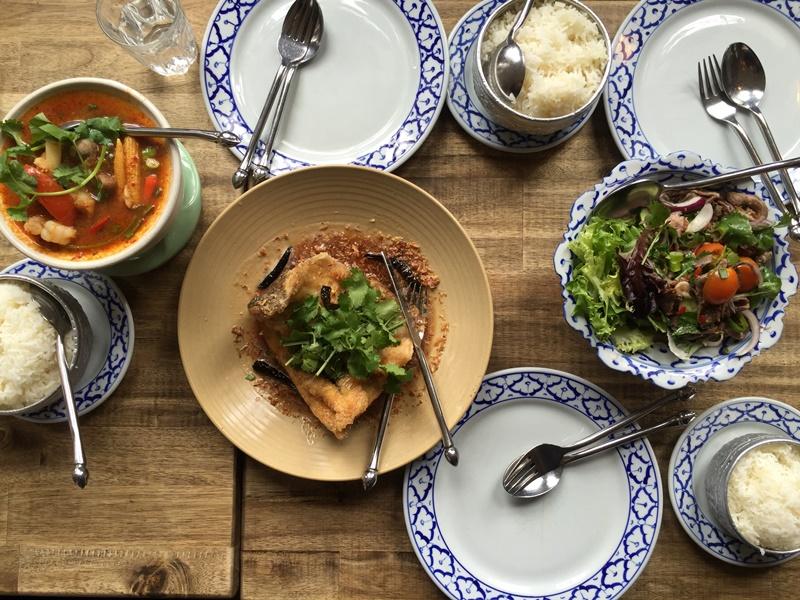 Fried fish, tomyam and salad jinda thai Melbourne
