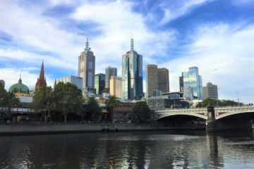 Melbourne city, Australia, blue sky, travel