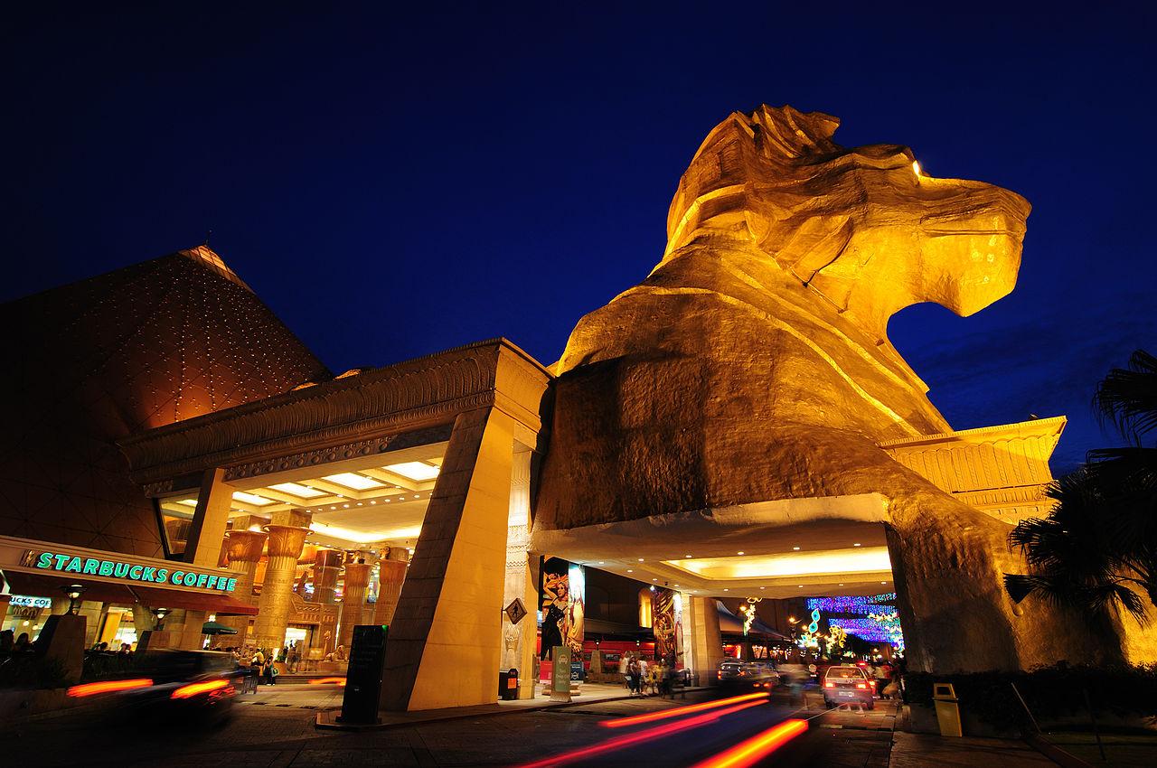 Sunway Pyramid Sphinx at night
