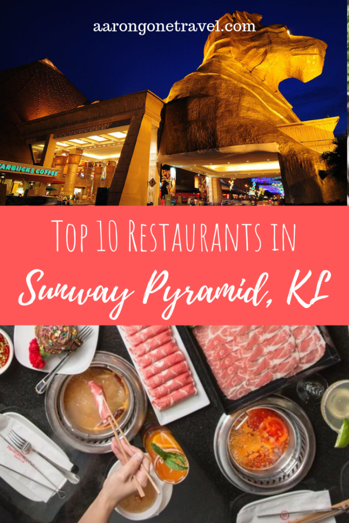There are many restaurants in Sunway Pyramid but these are the top 10 restaurants in Sunway Pyramid that you have got to try! #kualalumpur #foodie #travel #sunwaypyramid