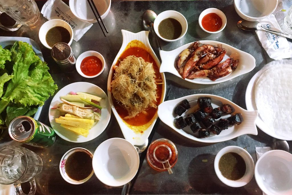 Gỏi Cá Mai Trâm traditional vietnamese food authentic vietnamese restaurant in Ho Chi Minh city