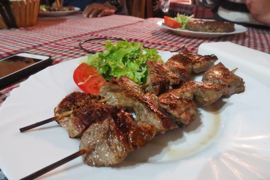 Macedonian grilled meats in skopje old bazaar Turist