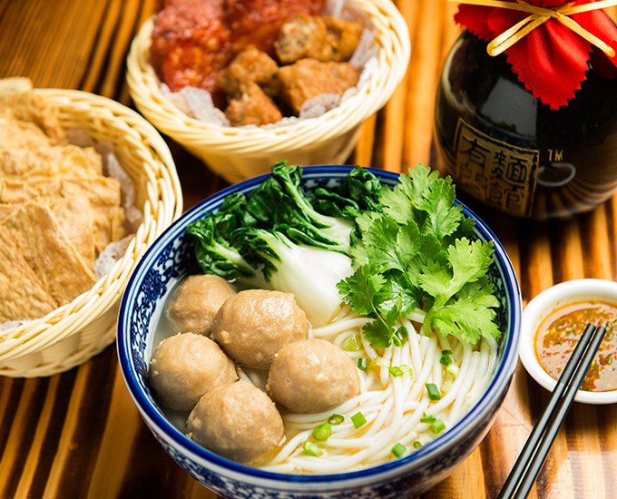 Go noodle house with juicy beef ball noodles