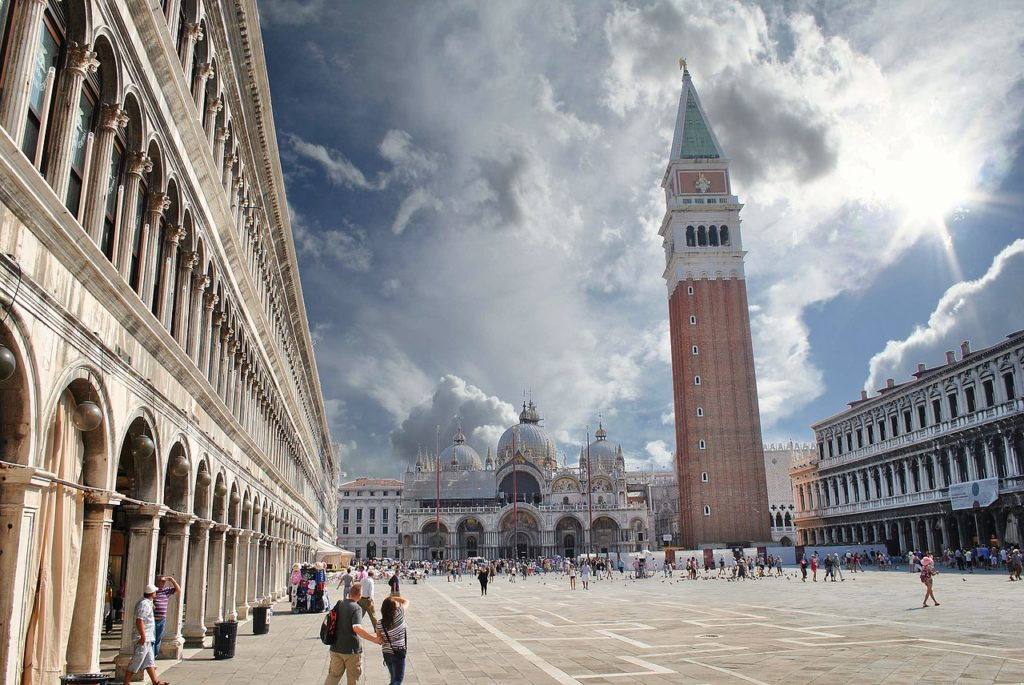 piazza san marco with campanile and basilica san marco