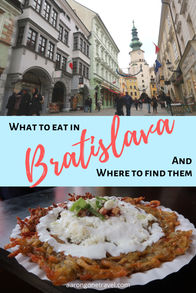 Wondering what to eat in Bratislava? This post has got you covered! Introducing most of the national Slovak favourites including Halusky, Kapustnica, Trdelnik, potato pancake and other Slovak goodness!