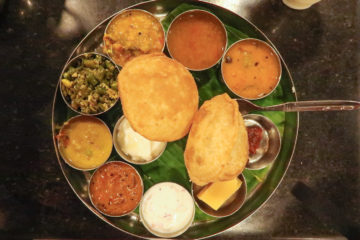 Thali at Hotel Saravana Bhavan must eat places in Delhi