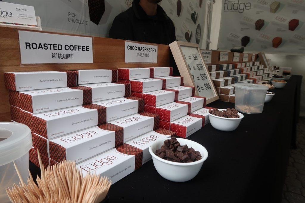 salamanca market chocolate tasmania