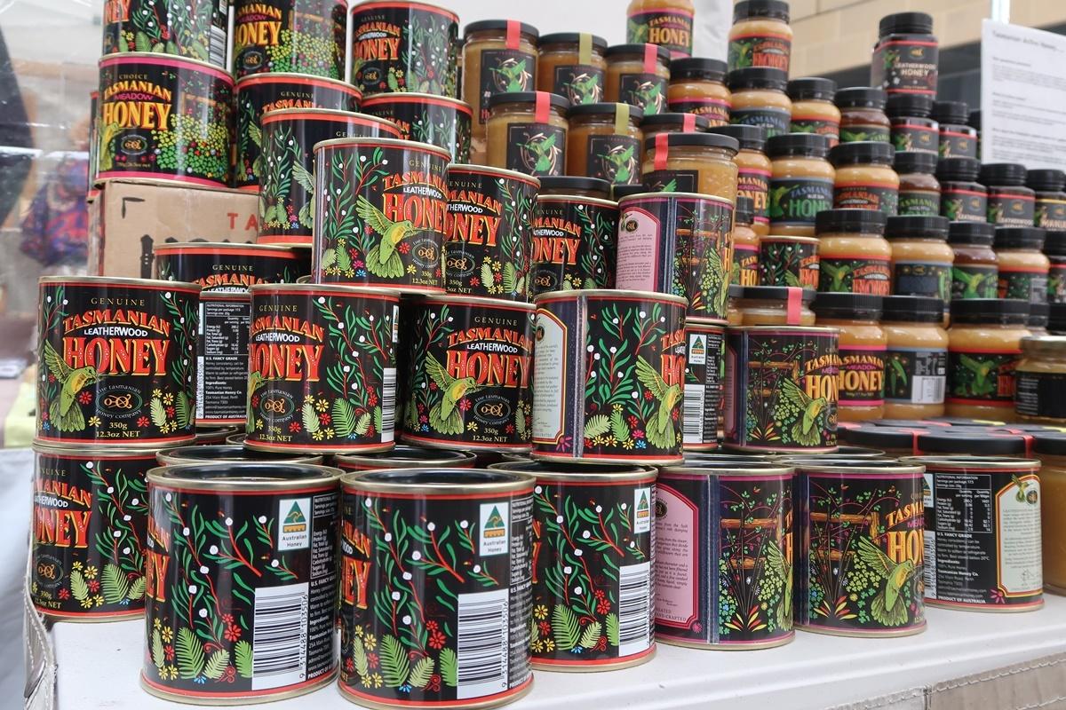Honey can hobart Tasmania australia salamanca market