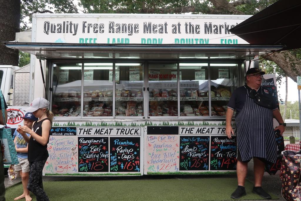 meat truck davies park market brisbane australia